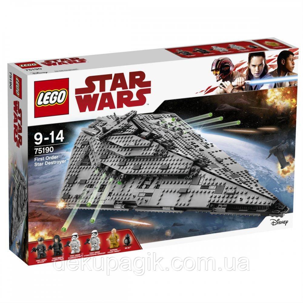 Lego Star Wars Звёздный разрушитель Первого Ордена 75190
