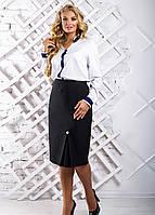 Женская прямая юбка больших размеров 2311 размер 50-56