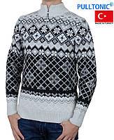Свитер Pulltonic большого размера на молнии.Теплый зимний свитер.