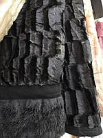Покрывало на кровать меховое Норка 200х230 цвет мокрый асфальт