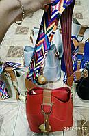 Женская сумка с цветным ремнем В30115