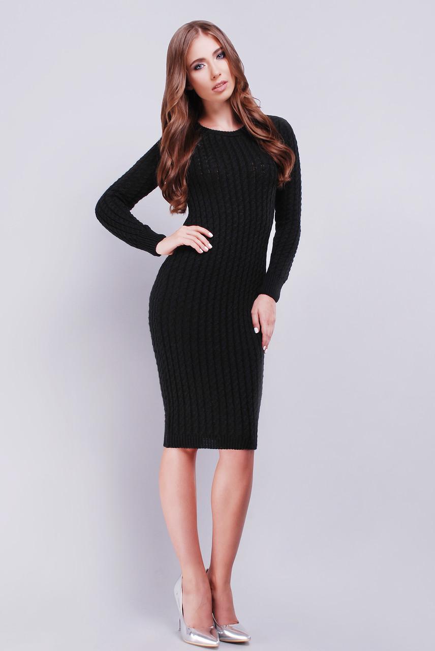 Платье 128-1 черный