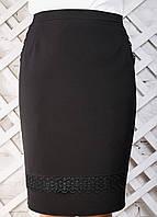 Женская прямая юбка с кружевом 2310 размер 50-56
