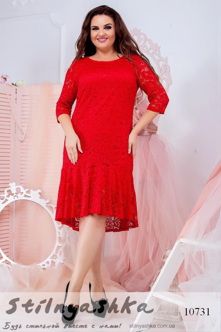 нарядное гипюровое платье батал
