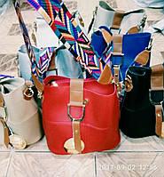 Женская модная сумка с цветным ремнем