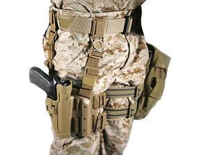 Кобура Blackhawk Level 2 Tactical Serpa для пистолета Colt 1911 (430503CT-R) C