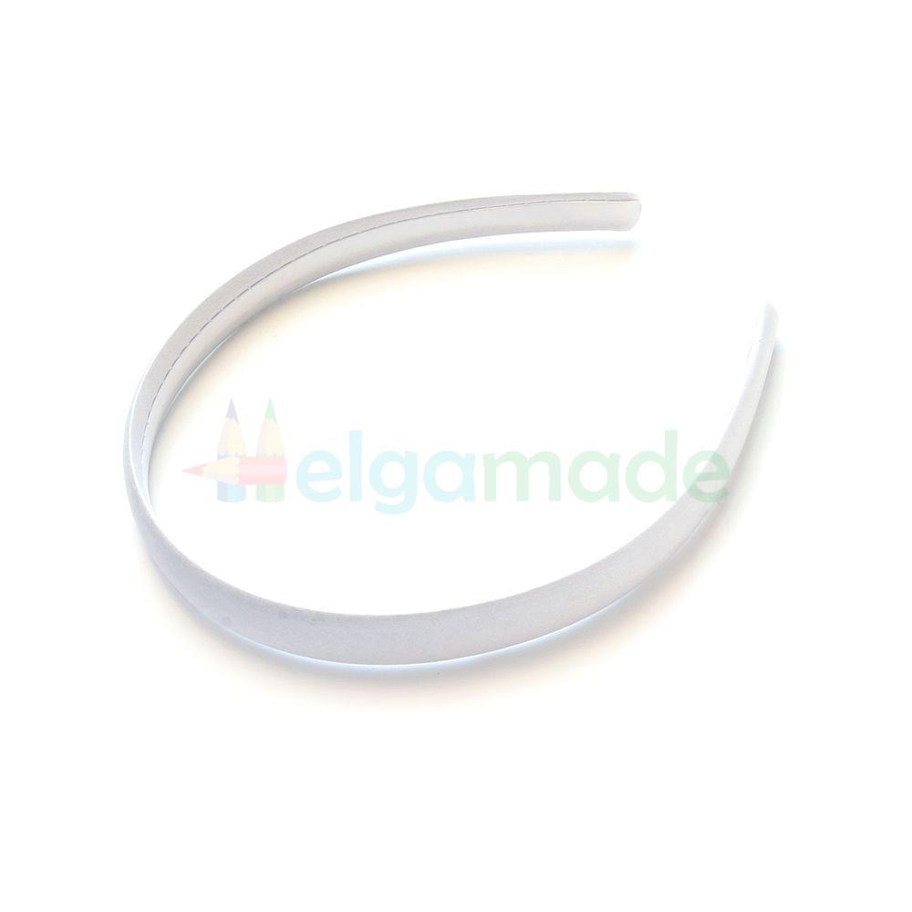 Обруч пластиковый обтянутый тканью белый, 14 мм