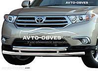 Защита бампера Toyota Highlander 2010-2013