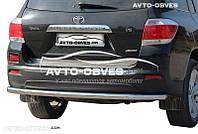 Защита заднего бампера Toyota Highlander, Украина (п.к. AK)