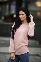 Свитер женский стильный с открытыми плечами вязка Италия разные цвета SSdi125