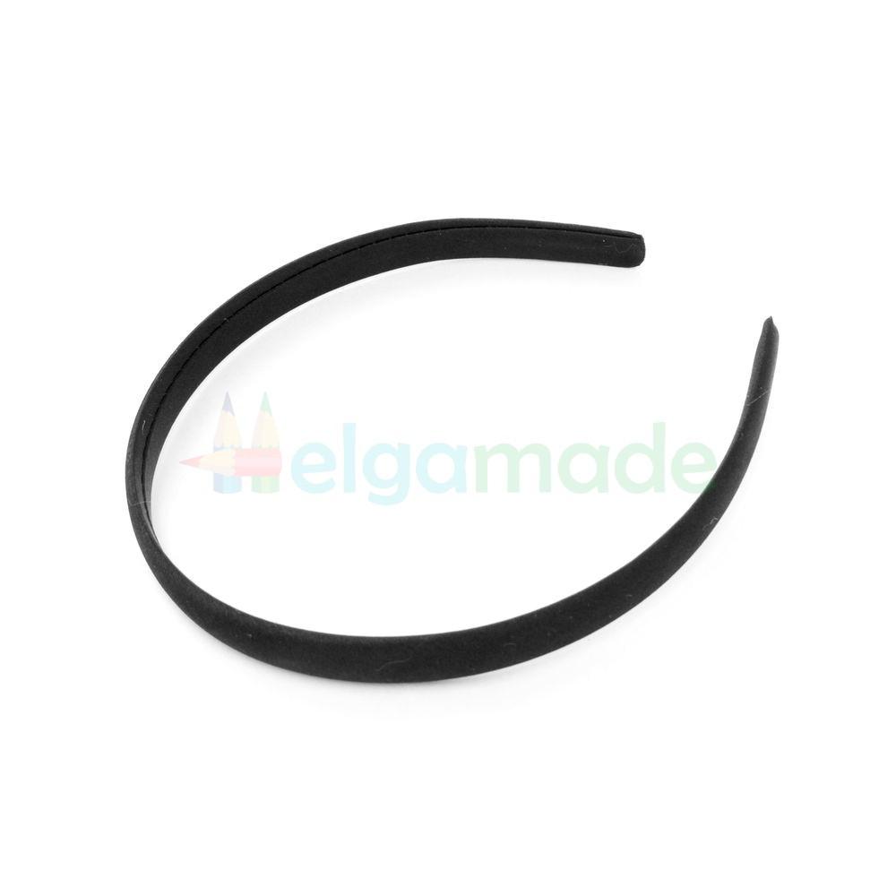 Обруч пластиковый обтянутый тканью черный, 14 мм