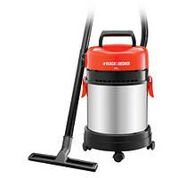 Сетевой пылесос для влажной и сухой уборки BLACK+DECKER 1,4 кВт, 260 AW, емкость пылесборника 20 л.