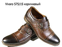 Туфли мужские классические  натуральная кожа коричневые на шнуровке  (575/15)