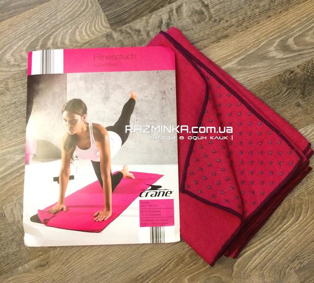 Коврик (полотенце) для йоги, фитнеса CRANE 183х60см, коврик полотенце для йоги, коврик полотенце для фитнеса, коврик полотенце