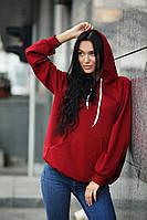 Худи женский модный двунитка разные цвета SSdi126