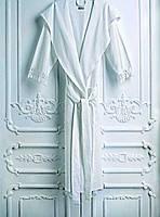 Халат женский хлопковый с бахрамой L/XL