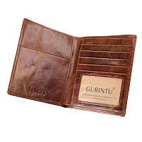 """Кошелек портмоне """"Gubintu passport"""" натуральна кожа"""