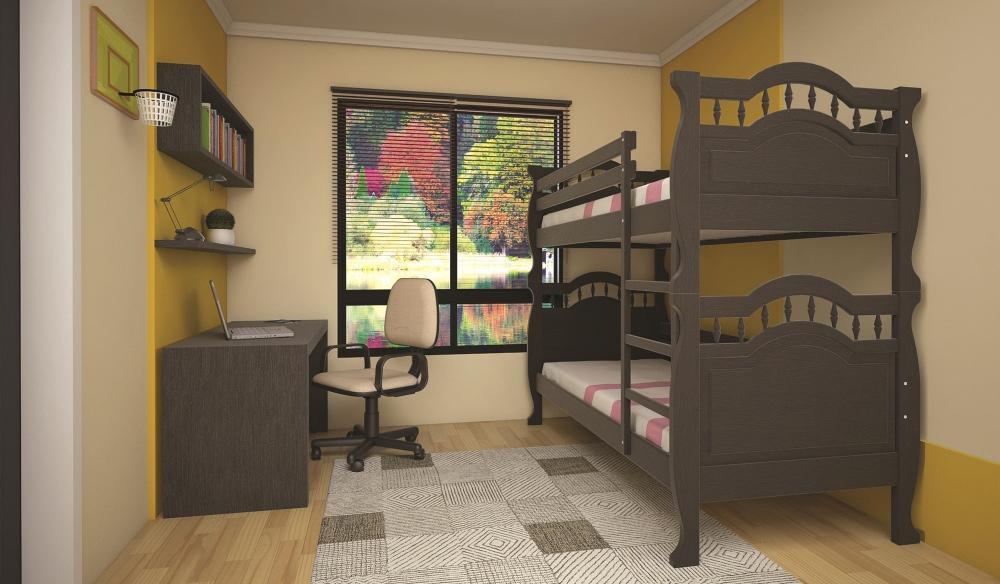 Кровать ТИС Трансформер-10 80*190 дуб