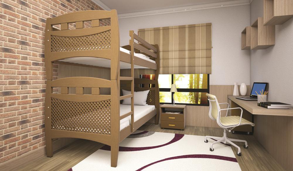 Кровать ТИС Трансформер-13 80*190 дуб