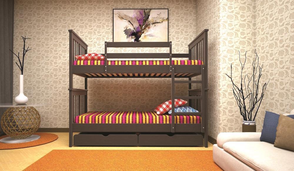 Кровать ТИС Трансформер-4 80*190 дуб