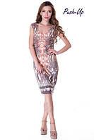 Вискозное платье с принтом Suavite 91163