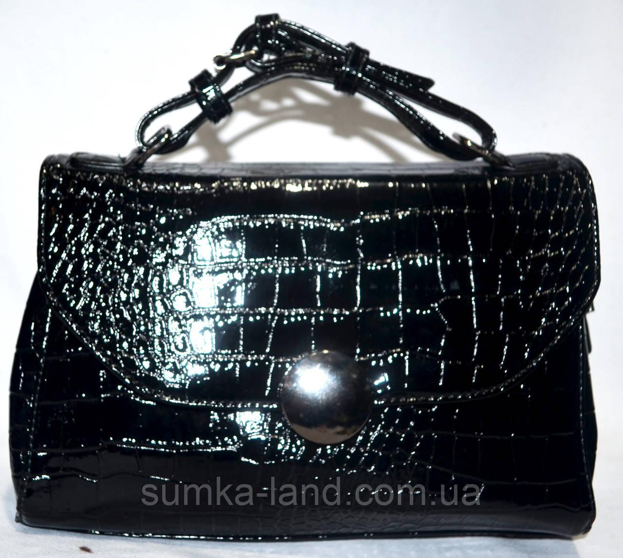 decd85edbf25 Женский лаковый клатч черный крокодил 25*17: продажа, цена в ...