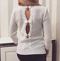 Свитер женский красивый с вырезами на спине и люрексом разные цвета SSvv127