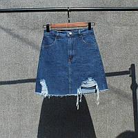 Юбка джинсовая женская трапеция