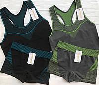 Спортивный набор из гладкошовных майки и шортов