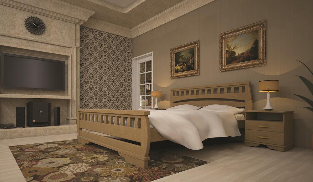 Кровать ТИС АТЛАНТ 4 140*190 дуб