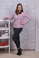 Женские цветные штаны с начёсом Nanhai A872-1 5XL. Размер 50-54.