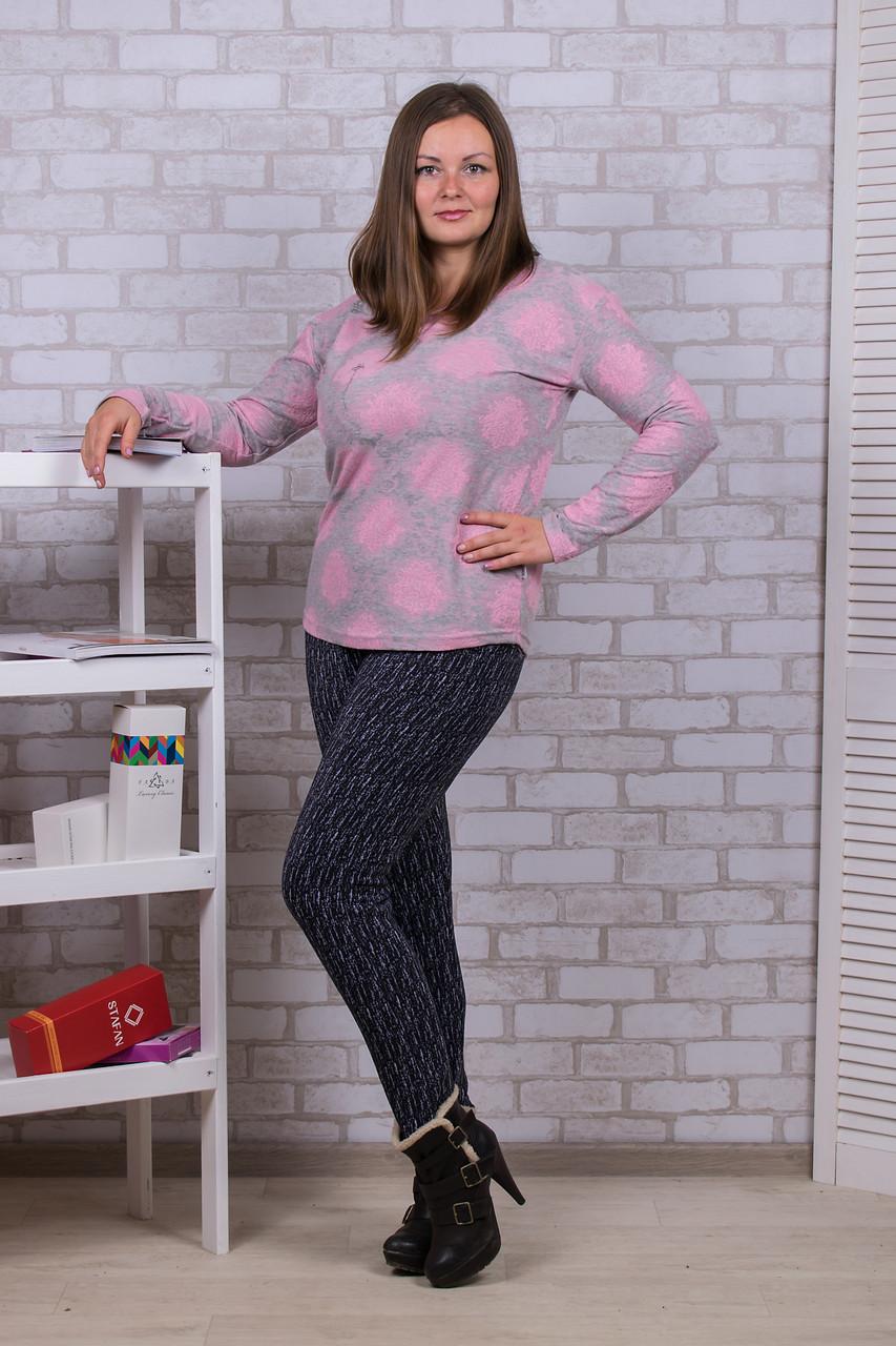 Женские цветные штаны с начёсом Nanhai A872-1 6XL. Размер 52-56.