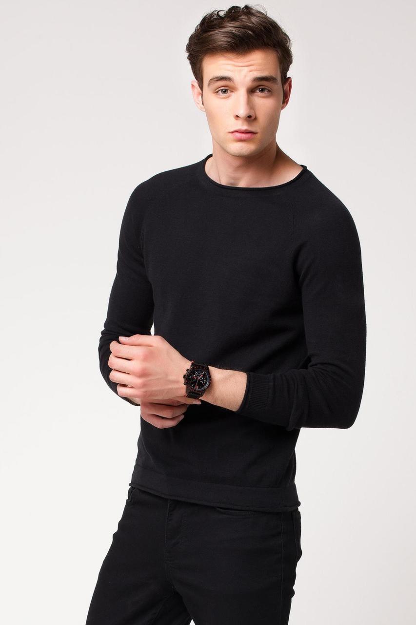 Чорний чоловічий светр De Facto