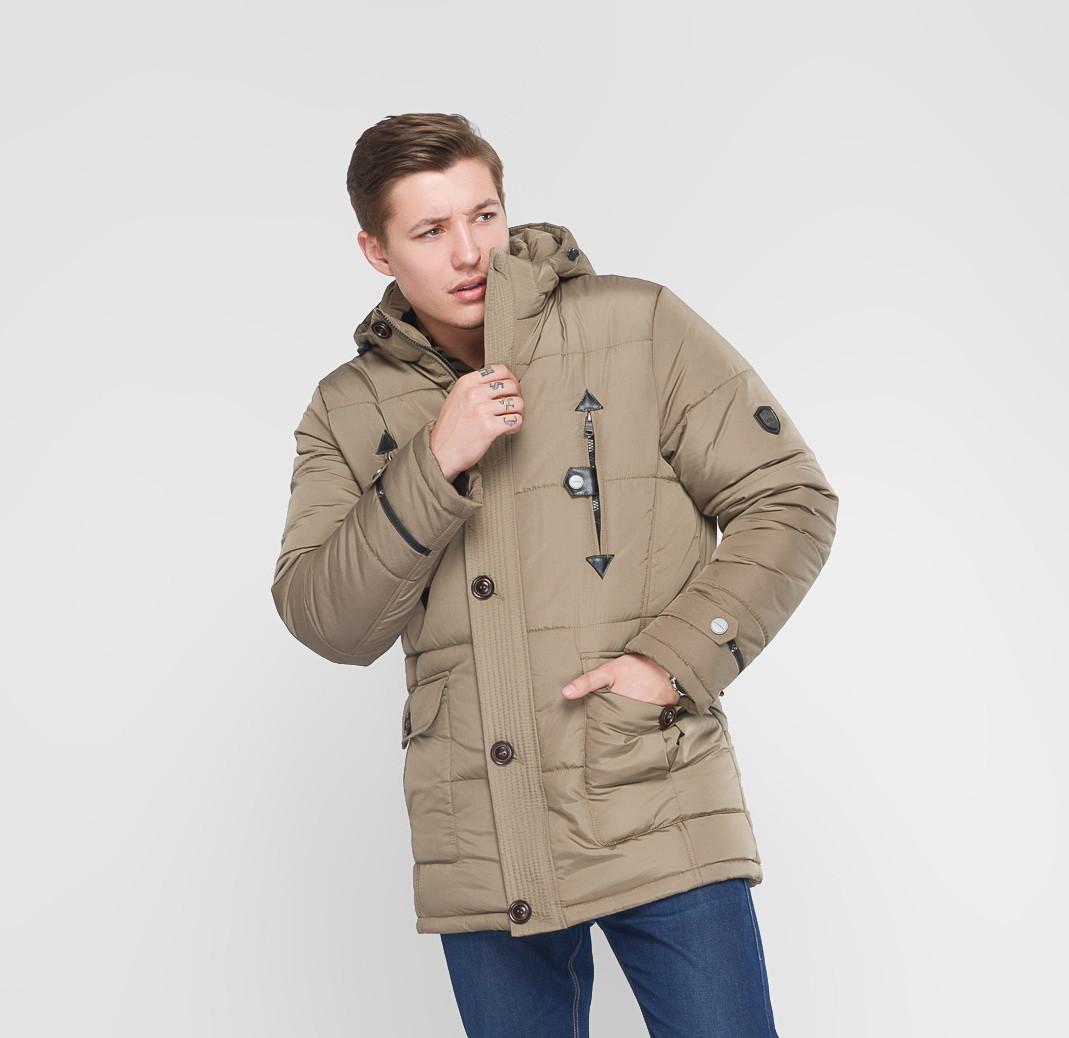 Классическая зимняя куртка Victor бежевый (48-54)
