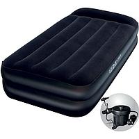 Надувная кровать Bestway 67381 (191х97х46 см) + электронасос
