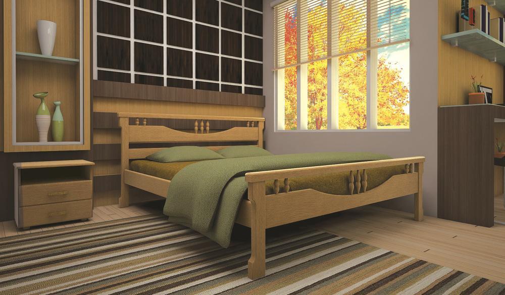 Кровать ТИС ГАРМОНІЯ 180*190 сосна