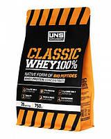 UNS Classic Whey Protein 100% ,750g. ваниль,  клубника,  тоффи