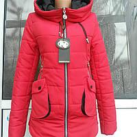 Осенняя женская куртка футляр  американка