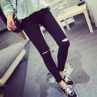 Модные лосины с разрезами на коленях