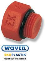 Пробка (заглушка) ПП с наружной резьбой и уплотнительным кольцом короткая 20 Wavin Ekoplastik (Чехия) (50/250)