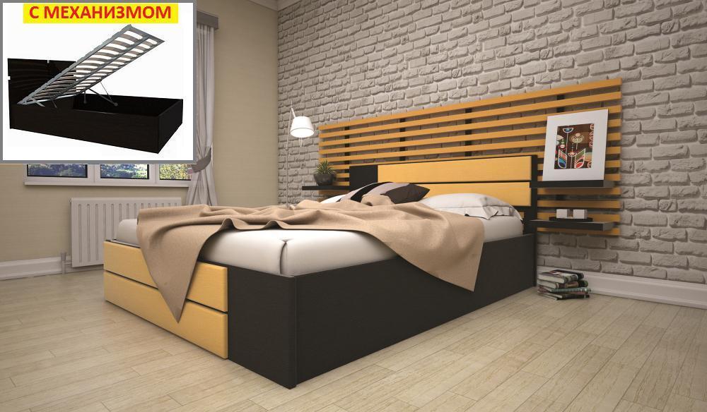 Кровать ТИС ЕЛІТ 1 (ПМ) 140*200 дуб