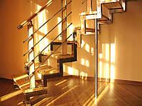"""Изготовление и монтаж лестниц для дома на сварных косоурах """"под ключ"""""""