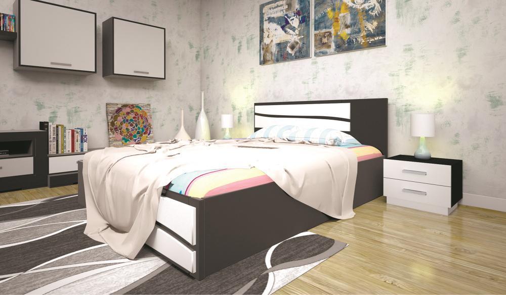 Кровать ТИС ЕЛІТ 2 90*200 дуб