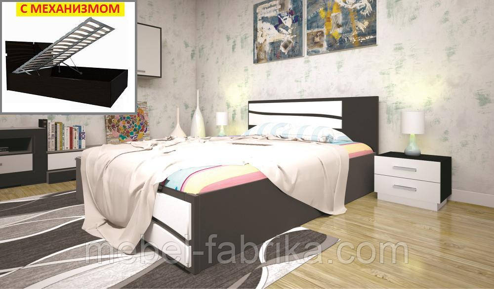 Кровать ТИС ЕЛІТ 2 (ПМ ) 160*200 сосна