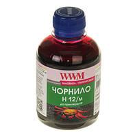 Чернила WWM HP 10/11/12/13/14/82, Magenta, 200 г (H12/M)