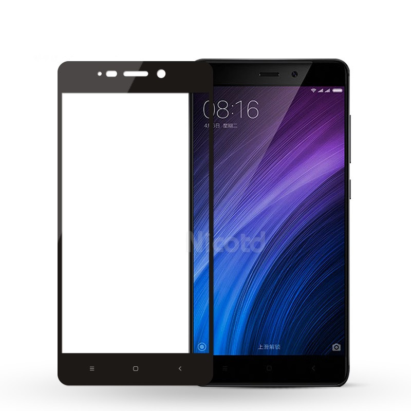 Защитное стекло Xiaomi Redmi 4 full cover black