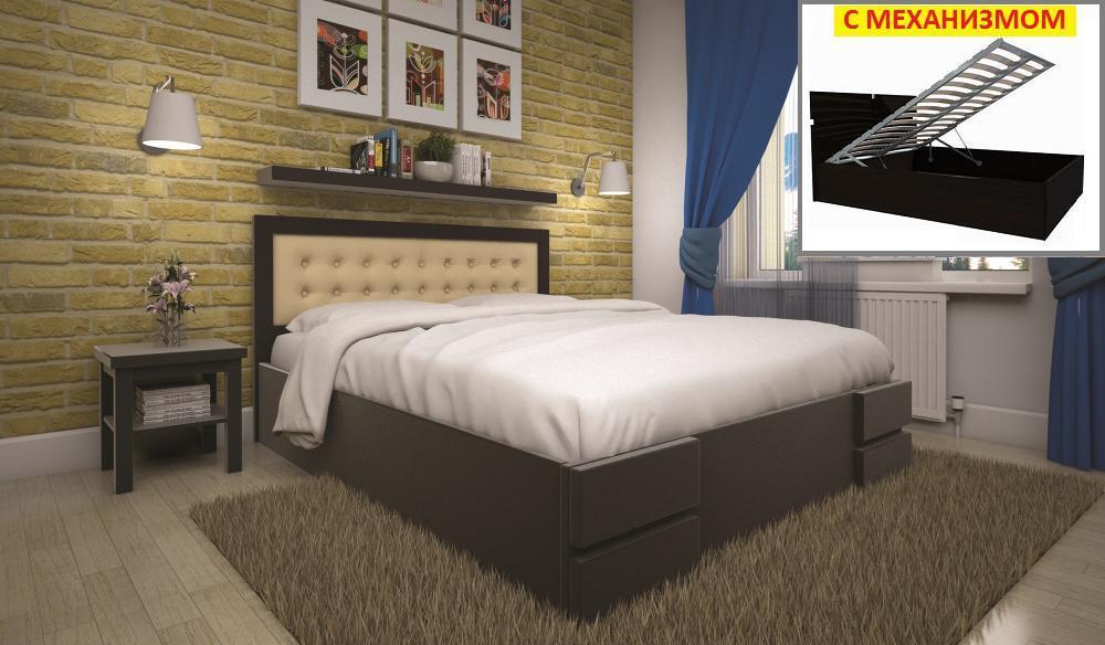 Кровать ТИС КАРМЕН (ПМ) 160*200 дуб