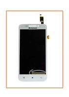 Дисплей Lenovo S650, S658 с сенсором (тачскрином) White Original