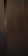 Дверное полотно шпонированные Коллекция Премьера модель Премьера 1 со стеклом (триплекс черный)