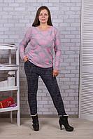 Женские цветные штаны с начёсом Nanhai A872-3 5XL-R. Размер 50-54.